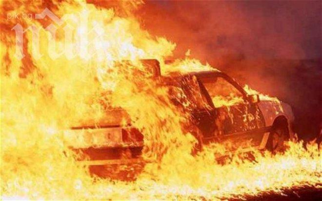 Три автомобила горяха в Плевен