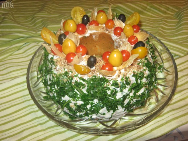 Празничен солен кекс