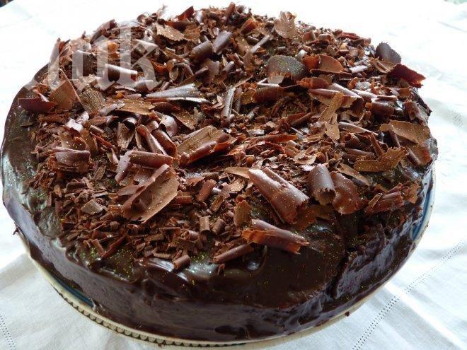 Бишкотена торта с какаов крем