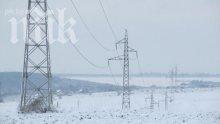 Снегът и леденият вятър остави две села в Сливенско без ток
