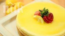 Лимонов бисквитен кейк