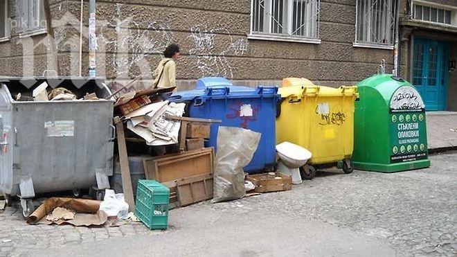 Почистват и дезинфекцират цветните контейнери за отпадъци в столицата
