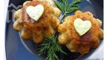 Картофени кексчета с гъби