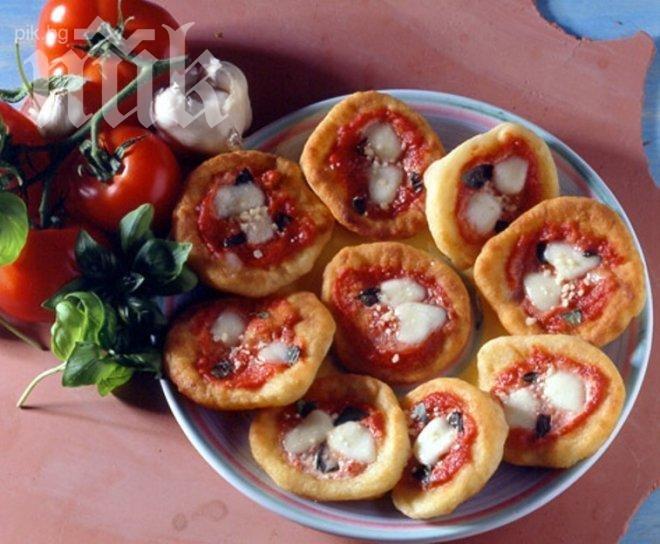 Пицети с кашкавал и филе