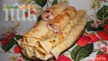 Палачинки със сладко от къпини и сирене (стъпка по стъпка)