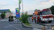 Кола с газова уредба се запали на бензиностанция в Хасково