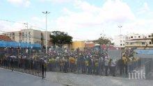 Пристанищни работници излязоха на протест в Бургас