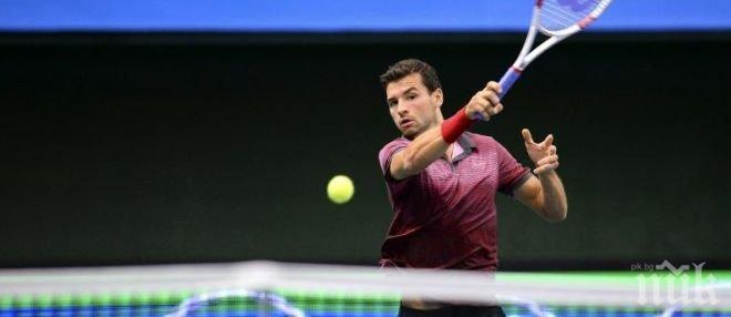 Григор Димитров потвърди участие на турнира в Ротердам