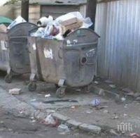 Контейнери за смет пречат на движението във Варна
