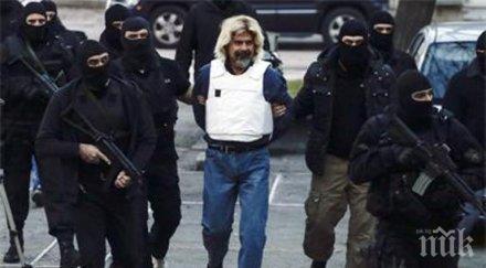 Заловеният гръцки терорист готвел масово бягство от затвор