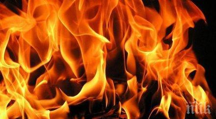 огнен пожар изпепели жилище столицата мвр пик пострадала