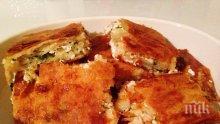 Бюрек със сирене и магданоз
