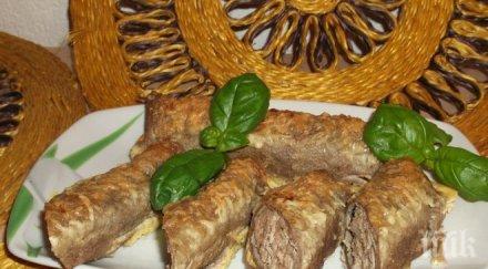 Пшеничени палачинки с месо