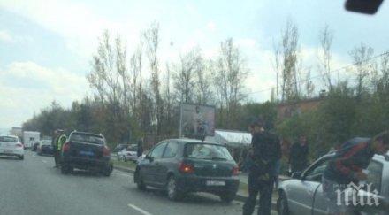 автомеле столицата три коли нанизаха околовръстното шосе мъж бере душа ексклузивни снимки