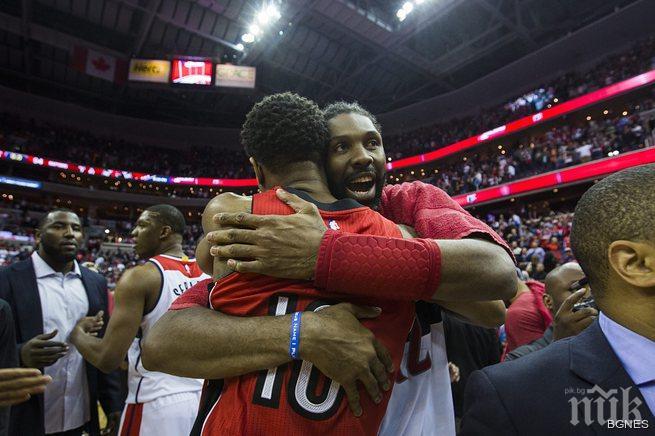Уизърдс победиха Торонто и се класираха напред в плейофите