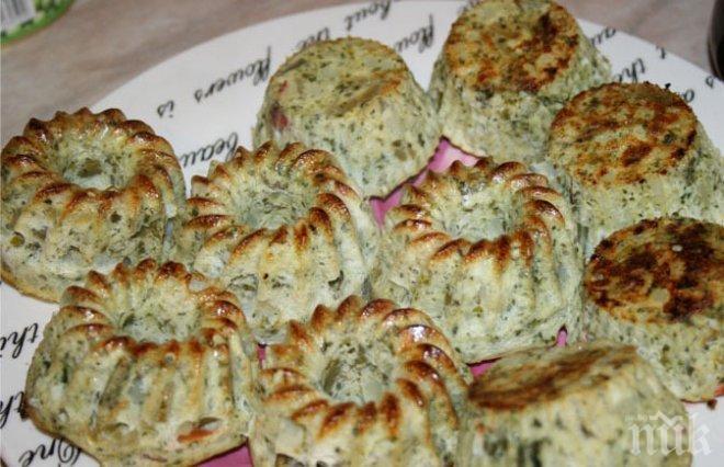 Зеленчукови кексчета