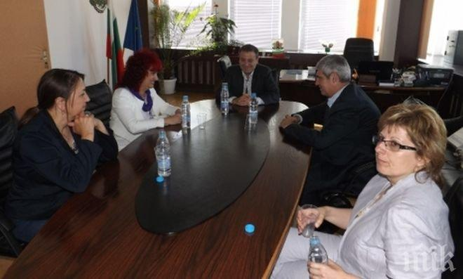 Областният управител на Разград проведе среща с президентa на КНСБ Пламен Димитров