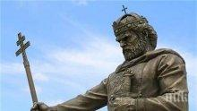 Скандал в ефир заради очите на паметника на цар Самуил