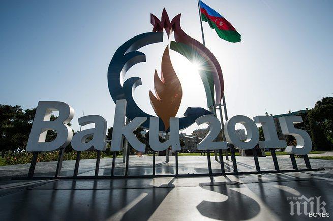 Мария Гроздева развя българското знаме на Олимпийския стадион в Баку