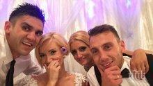 Бивш играч на ЦСКА вдигна пищна сватба с пиарката на Николета! Мика Стоичкова пропусна церемонията заради Парис Хилтън (снимки)