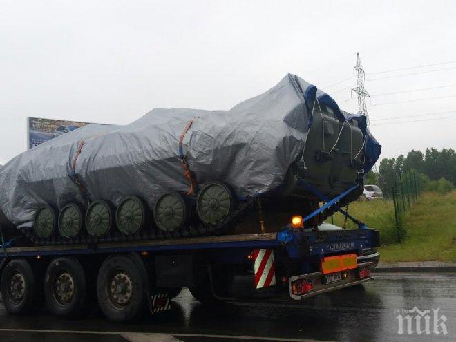 ПЪРВО В ПИК! Танкове от Чехия прекосяват България. Бойните машини пътуват към Бургас, където е.... Бойко Борисов!