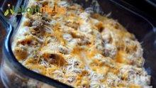 Макарони на фурна с колбас