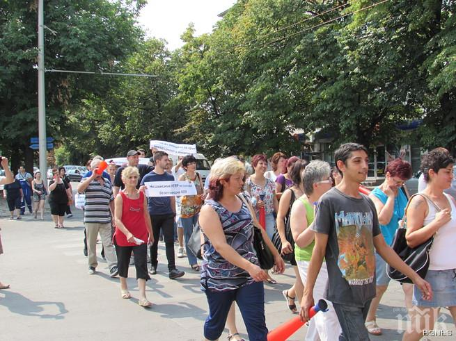 Русенски фирми протестираха с шествие срещу цената на тока
