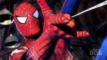 Епичен бой в духа на холивурските екшъни ! Човекът-паяк се сби с минувач (видео)