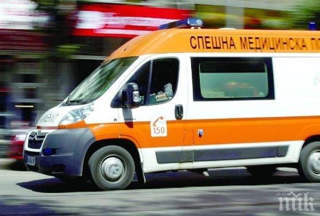 Линейка помете моторист във Враца
