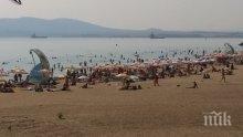 Наплив на бургаския плаж в последния уикенд на август