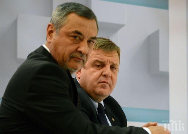 Валери Симеонов пред ПИК: За да има бъдеще Патриотичният фронт, е нужно желание и от двете страни!