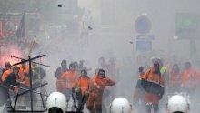 Сблъсъци между демонстранти и полиция в Брюксел