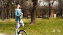 """Българи създадоха футуристичния велосипед """"Халфбайк"""""""