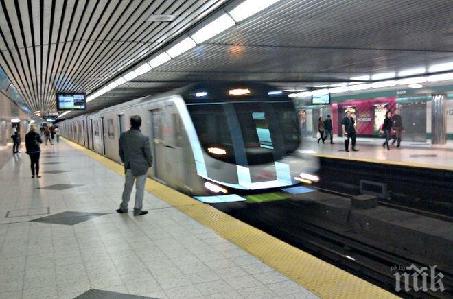 Млад мъж изправи на нокти пътниците в столичното метро