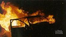 Такси изгоря в Русе