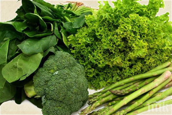 Зелените зеленчуци са полезни за стомаха