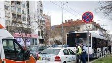 Жена пострада в автобус в Бургас, шефът на КАТ се втурна да ѝ помага