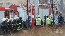 Огнен ад във Варна! Пожар обхвана жилищен блок