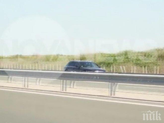 Камикадзе на магистрала Тракия! Джигит фучи в насрещното