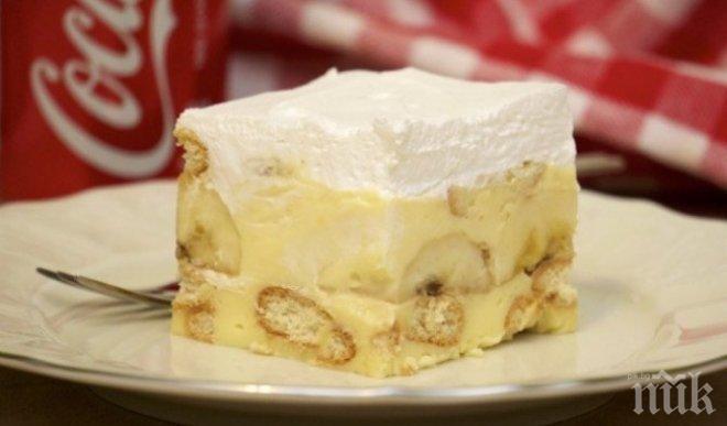 Бананов сладкиш без печене
