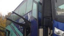 ПЪРВО В ПИК! Празничните мелета на пътя започнаха: Два автобуса, пълни с пътници, се удариха на централен столичен булевард (обновена)