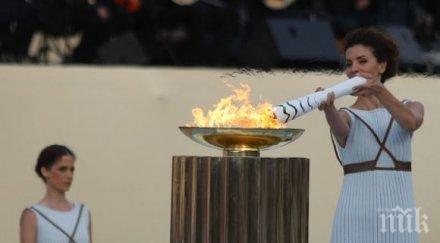 олимпийският огън пристига бразилия