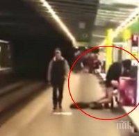 Без задръжки! Горещ секс се развихри в метрото, народът жадно попива ласките (ВИДЕО)