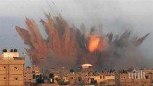 """Един човек е загинал при въздушните удари на Израел по позиции на """"Хамас"""" в Ивицата Газа"""