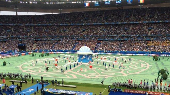 Френската ескадрила и Давид Гета откриха Евро 2016 (СНИМКИ)