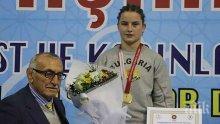 Биляна Дудова с бронз от европейското по борба