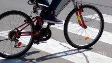 Екшън: Колоездач увисна заклещен на мост, предпазната ограда го спаси от фатален полет