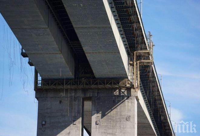 Нелеп инцидент! Мъж полетя от мост край Кочериново, нарани си сериозно главата