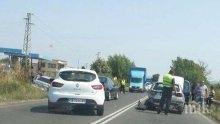 Извънредно: Пътят през Поморие блокиран заради катастрофа