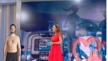 Какво става в Би Ти Ви? Биляна Гавазова с полугол мъж в ефир! Разнищи помпането на мускули